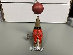 Vintage Wind Up Seal with Ball on Nose J. Chein Lithograph Tin Toy Made In USA